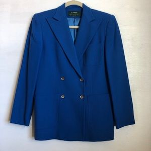 Ralph Lauren royal blue double breasted blazer